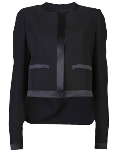 Givenchy Black Wool and Satin Jacket